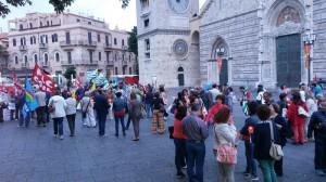 Il flash mob contro il ddl Buona scuola organizzato a Messina