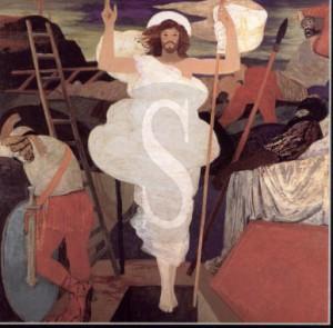 Chiesa dell'Annunziata, La Resurrezione di Cristo, olio su tela, 1983