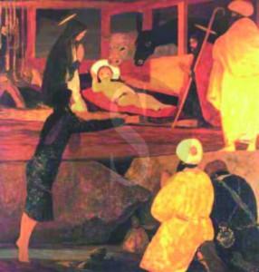 Chiesa dell'Annunziata, Comiso, Natività, olio su tela, 1983