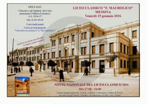 Notte Liceo Classico - Locandina con Maurolico