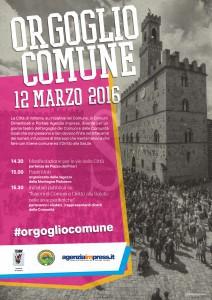 Locandina manifestazione di Volterra del 12 Marzo 2016