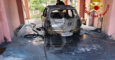 Auto a fuoco all'alba a Mazzarrà Sant'Andrea: il rogo è doloso
