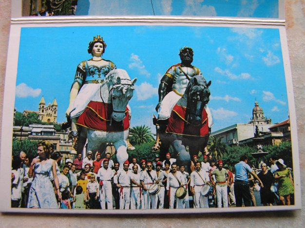 Festa of Messina's mythological founders Mata and Grifone.