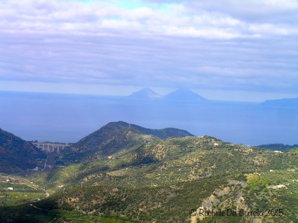 Belvedere, Castell'Umberto looking at Aeolian Islands