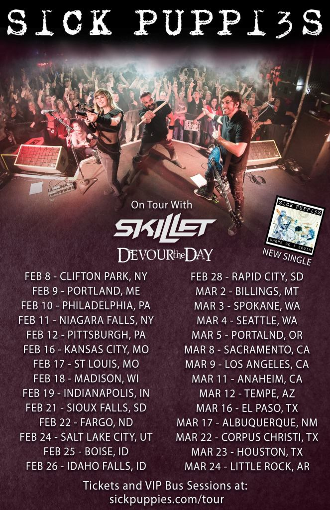 Sick Puppies Skillet Tour