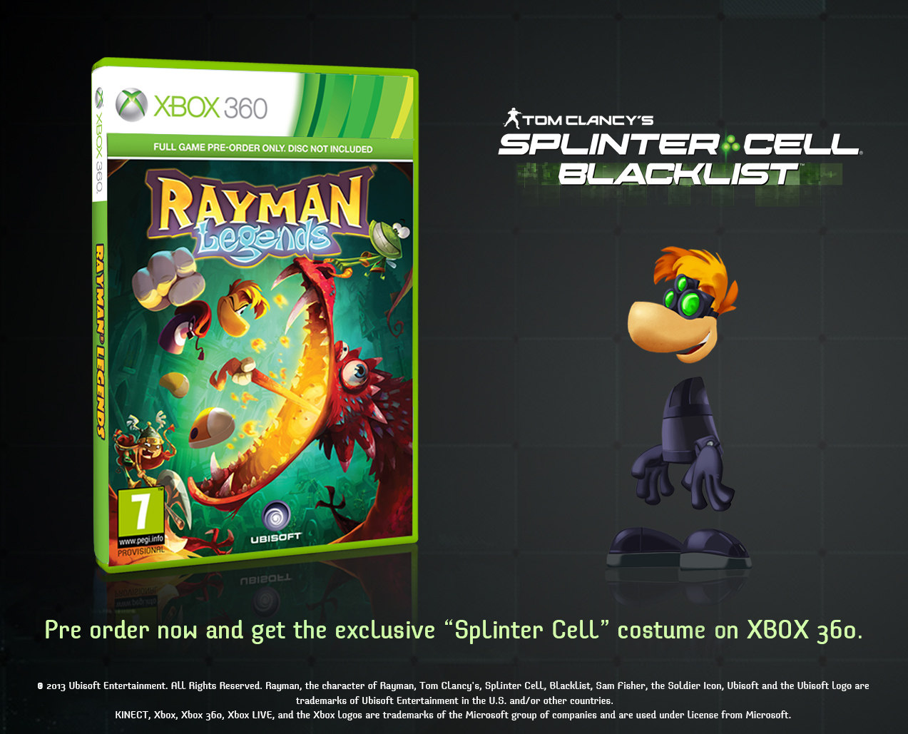 Rayman Legends Preorder Bonuses Announced My Nintendo News