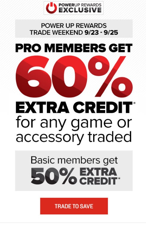 50 Extra Credit On Trade Ins At Gamestop This Weekend