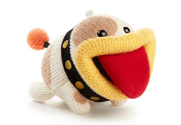 Poochy amiibo: Tongue-lolling selfie.