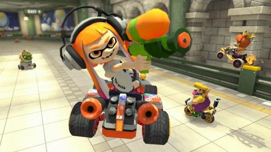 Inkling Girl in her Mario Kart debut.