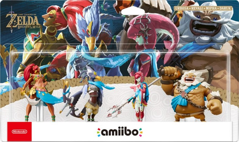 Gamestop Zelda Breath Of The Wild Champions Amiibo Bundle