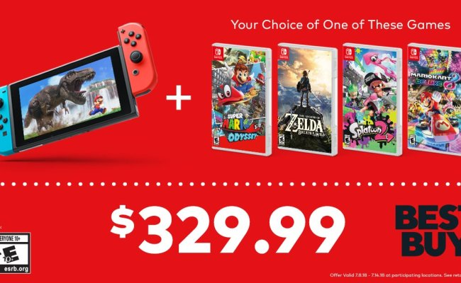Best Buy Nintendo Switch And Game 329 99 This Weekend
