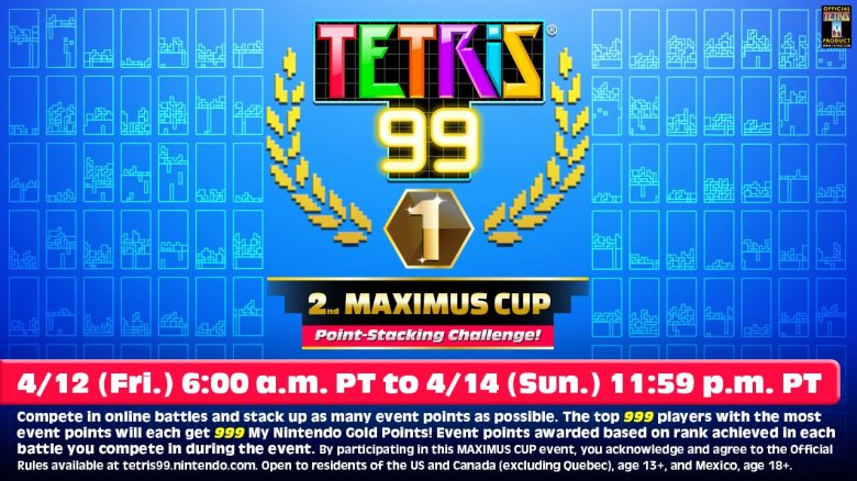 The Tetris 99 2nd Maximus Cup Begins On April 12th My