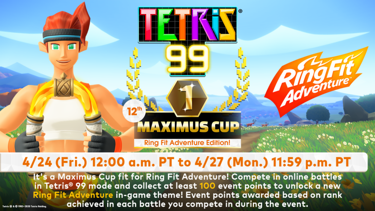 The 12th Tetris 99 Maximus Cup Begins On April 24th My