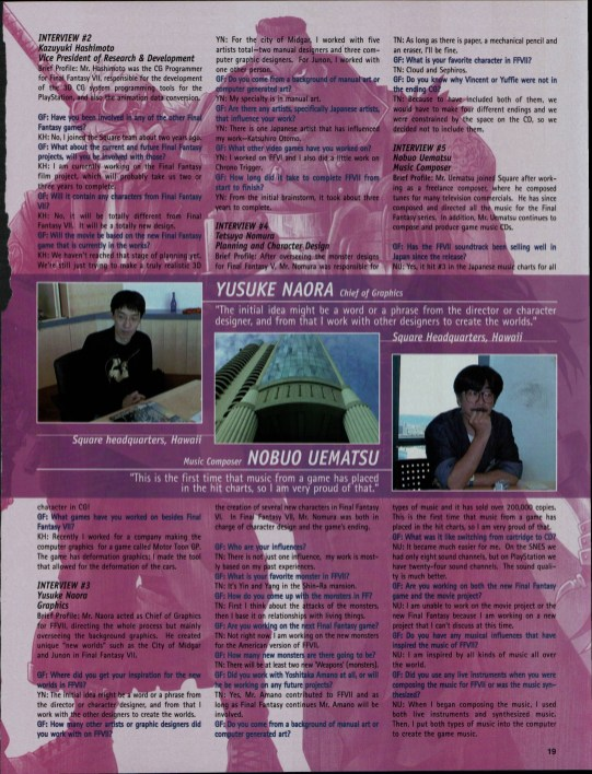 Development of Final Fantasy VII