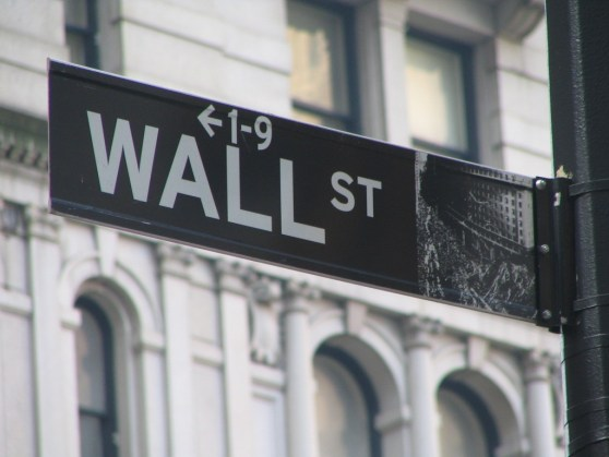 Image of street sign for Wall Street, the home of insider trading