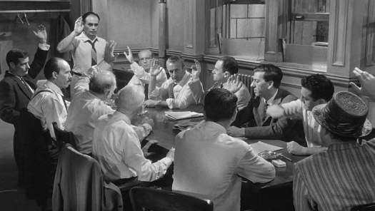 Scene from 12 Angry Men - Racial Bias in Jury Deliberations