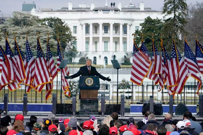 "Trump addressing the ""Save America'"" rally"
