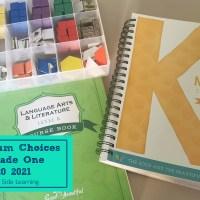 Grade One Homeschool Curriculum Choices 2020-2021