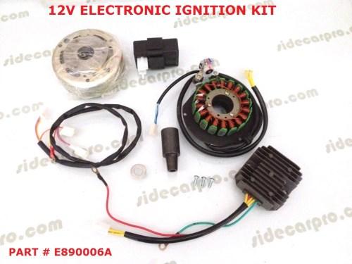 small resolution of cj750 12v electronic ignition kit m1m m1s m1 super rh sidecarpro com ford electronic ignition wiring diagram chrysler electronic ignition wiring