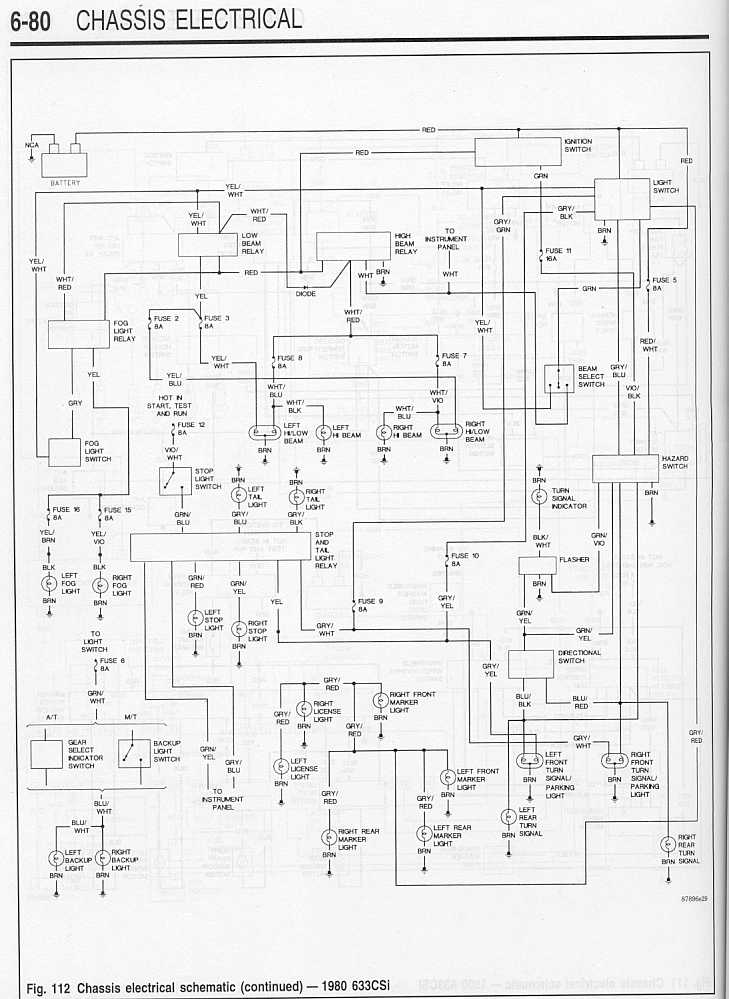 80_633CSi_Wiring_Diagram 3 « SIDE DRAFT SIX