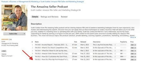 The Amazing Seller Podcast Episodes