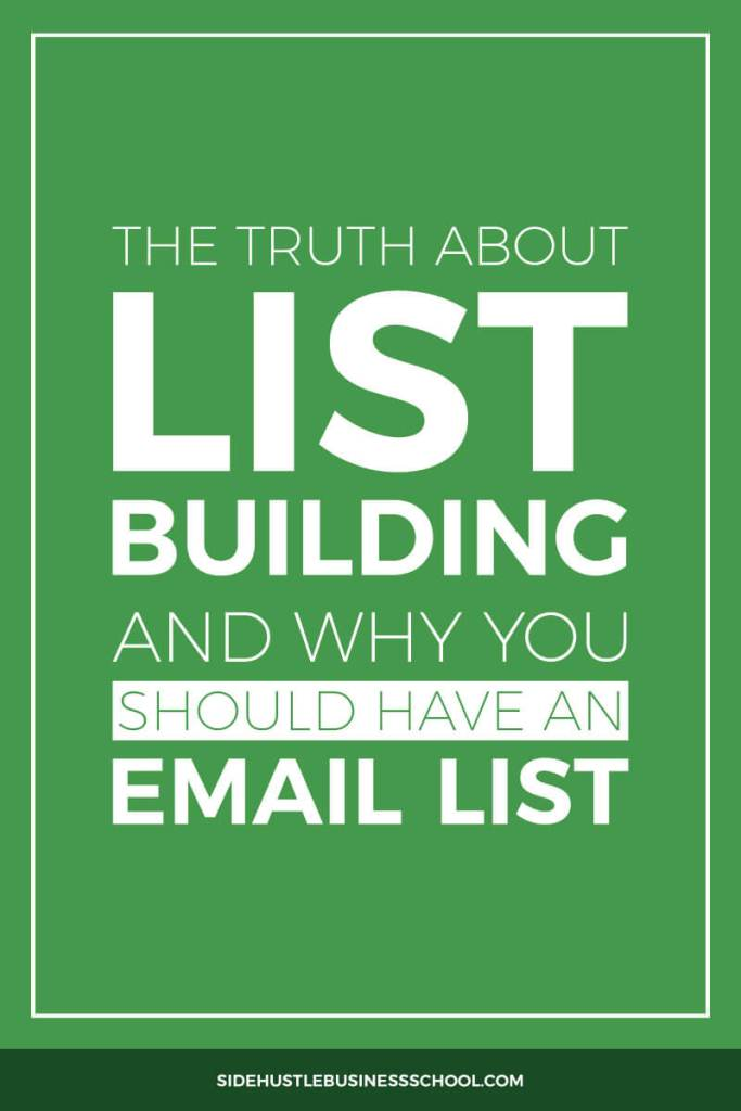 List Building and Why You Should Have an Email List Pin
