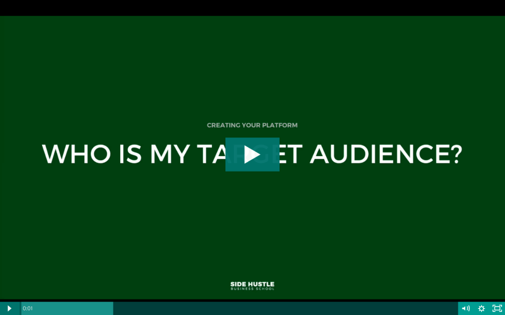 Who is my target audience - Side Hustle Business School
