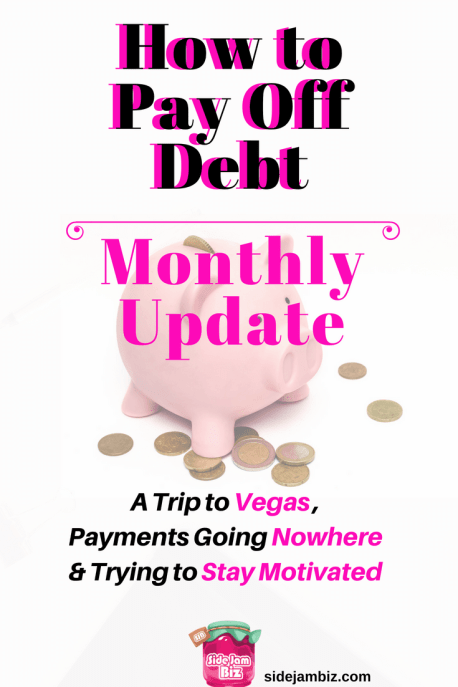 How to Pay Off Debt - Monthly Update