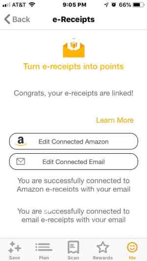 e-receipts to receive fetch rewards points