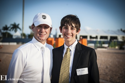 Jack and Olympian McLain Ward. Photo by Elena Lusenti Photography