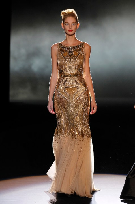 A Badgley Mischka gown.
