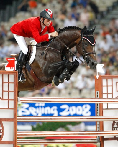 Eric Lamaze and Hickstead captured Team Silver and Individual Gold Medals at the 2008 Olympic Games. Photo by Cealy Tetley