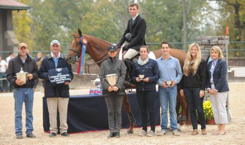 Missy's student Michael Hughes on Zagreb was the winner of the 2013 Platinum Performance/USEF Show Jumping Talent Search Finals – East. Photo by The Book LLC 2014