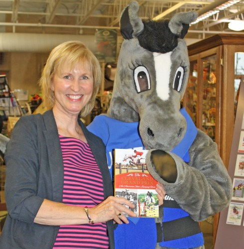 Betty with the horse show mascot, Hunter the Horse. Photo by Stephanie Groff