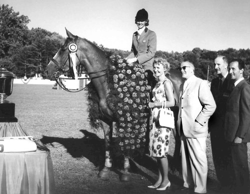 The winner of the first Grand Prix in North America was Mary Mairs Chapot aboard Tomboy. Photo courtesy of Chagrin Valley PHA Horse Show