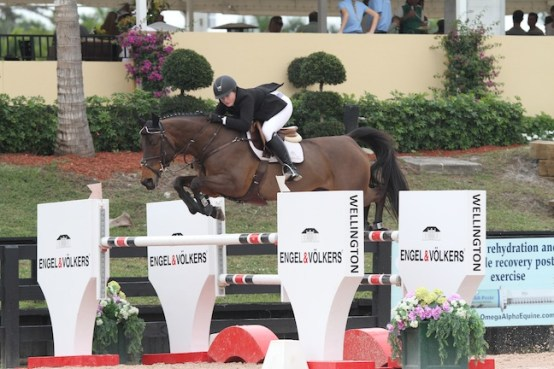 Skylar and Quiloa finished third out of 50-plus entries in the Low Junior Jumper Classic at WEF 2015. (Photo by Bridgette Ness)