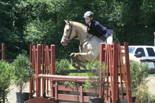 Emily, shown here competing Faith during their younger days, said finding Faith was always in the back of her mind. (Photo courtesy of Emily Lunsford)