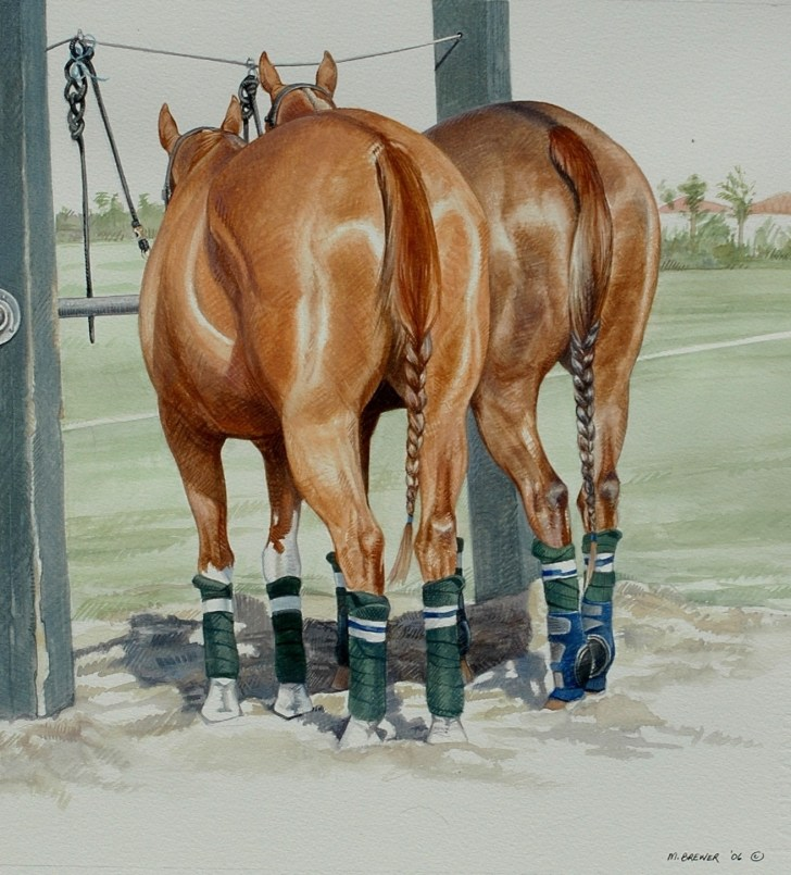 """Ponyline"" — watercolor painting (Photo courtesy of Melinda Brewer)"