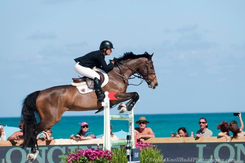Beezie and Vanilla at the 2015 Longines Global Champions Tour on Miami Beach. (Photo by Brenda Knoll Budd Photography)