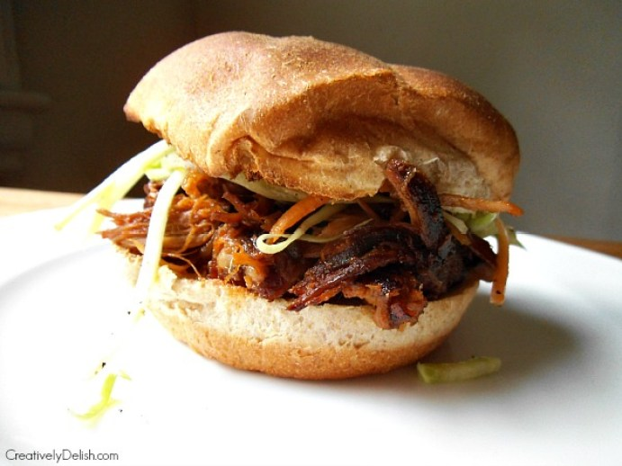 Slow Cooker Pulled Pork. Slow cookers are great because you can throw everything in that morning and by evening you have a complete meal. (Photo by Lauren Blacker)