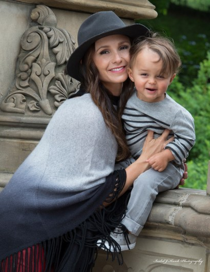 Georgina and her son, Jasper, during the photo shoot in Central Park. Photo by Isabel Kurek