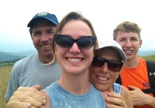 Family selfie: Mick, Gray Hales, Beth and Sean.