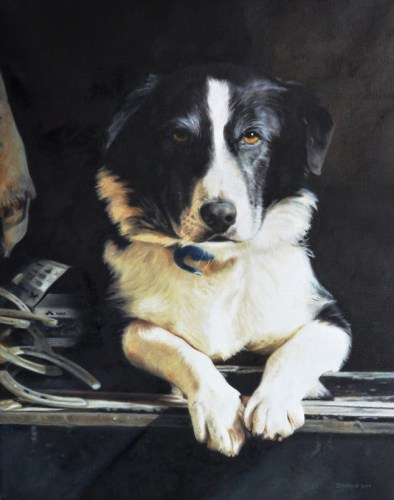 "Buster, the Farrier's Dog — 16"" x 20"" Private Collection"
