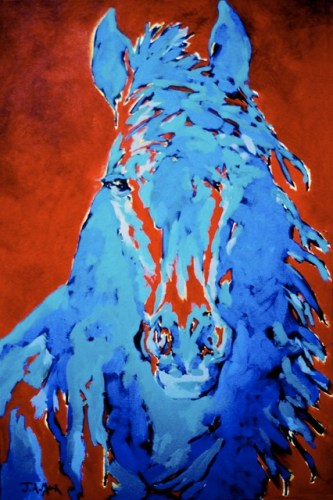 """Don Jaun — 26"""" x 24"""" Acrylic on canvas, private collection."""