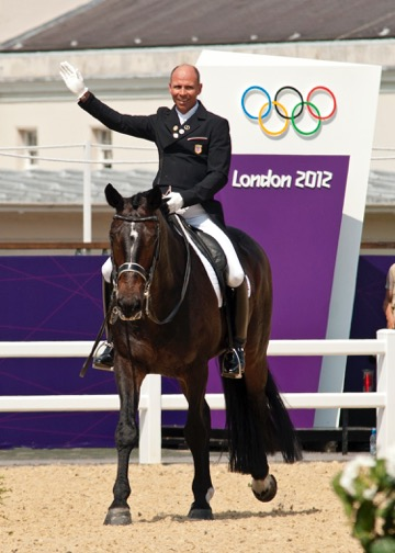 Steffen Peters, a three-time Olympic veteran, and Ravel at the London 2012 Olympic Games. Steffen will ride Legolas 92 in the 2016 Olympics in Rio and is hoping the 2016 Olympic dressage team will dance their way to the podium. Photo by Kim MacMillan/MacMillan Photography