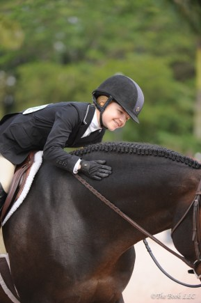 Sophie and Mythical at WEF in the Junior Hunters Photo by The Book LLC