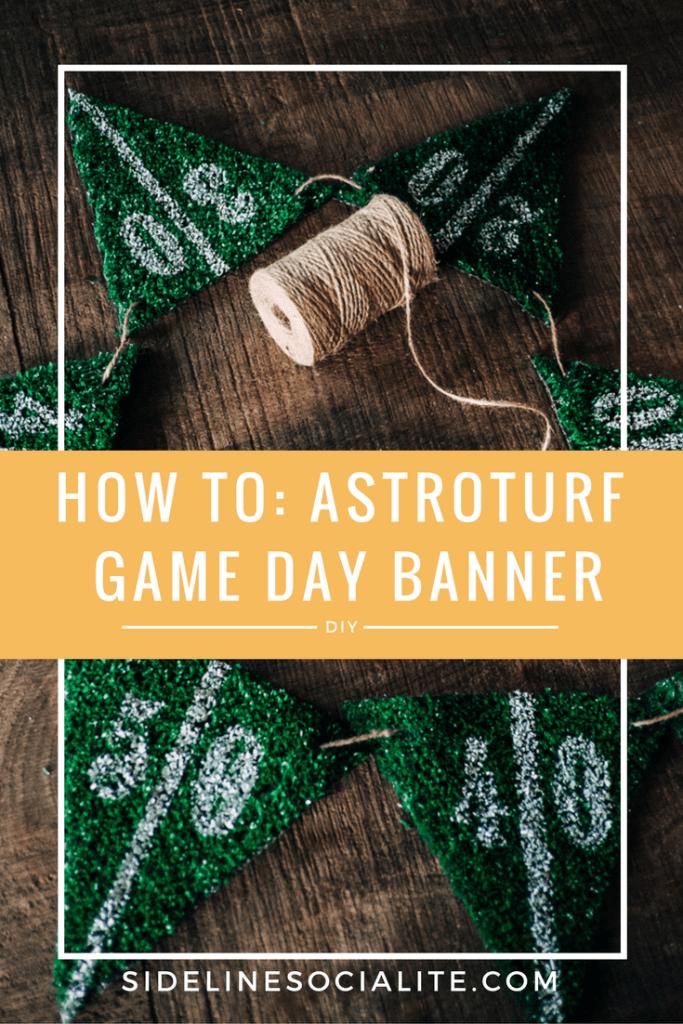 Tailgate Astroturf Football Banner Sideline Socialite