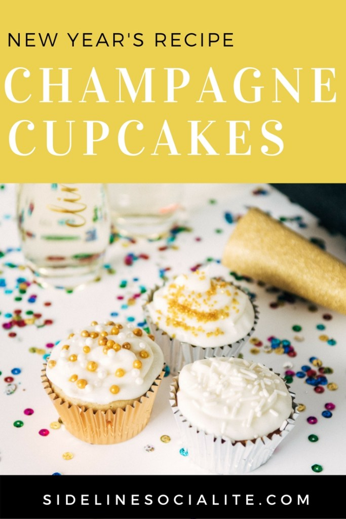 New Years Recipe Champagne Cupcakes