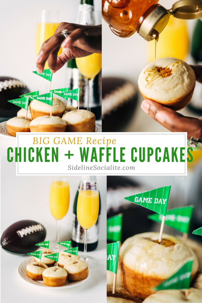 Game Day Super Bowl Recipe: Chicken Nugget + Waffle Cupcakes Sideline Socialite