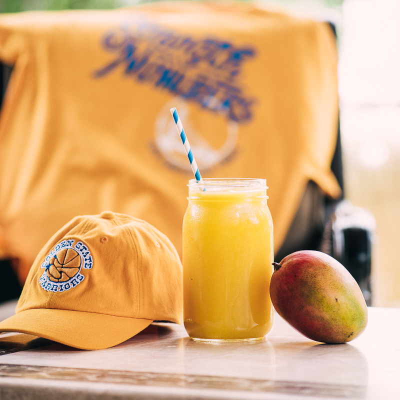 NBA Finals Mocktail: Golden State of Mind Mango Lemonade